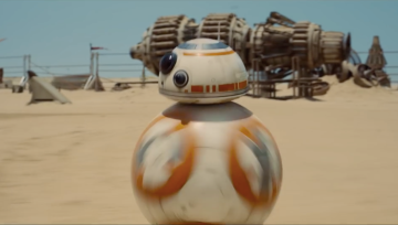 "The BB-8 droid from ""Star Wars: The Force Awakens."" Credit: Disney 